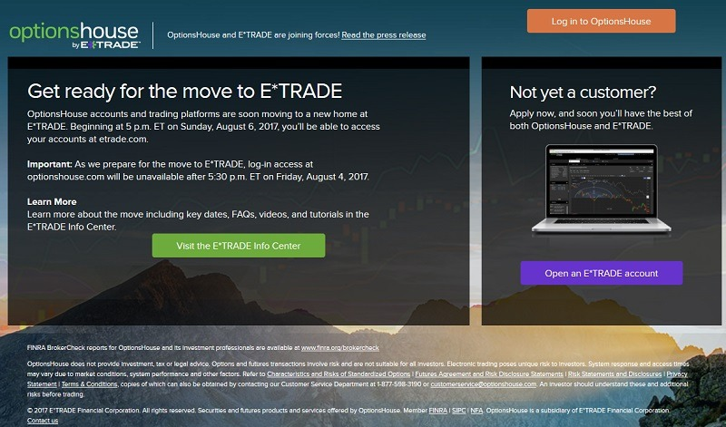 optionshouse eTrade