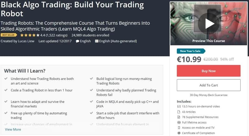Black Algo trading course