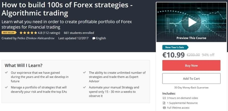 How to build 100s of forex strategies - Algorithmic trading