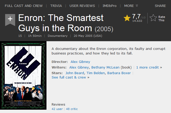 Enron - The Smartest Guys in_the Room
