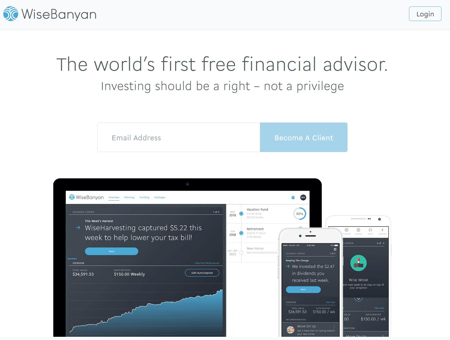 WiseBanyan | First free financial advisor