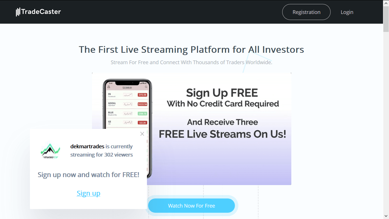 TradeCaster.com | live streaming dekmartrades 3 free sessions