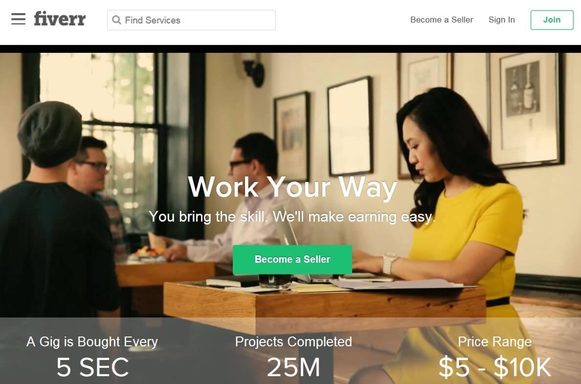 Fiverr.com - Alternative to Upwork