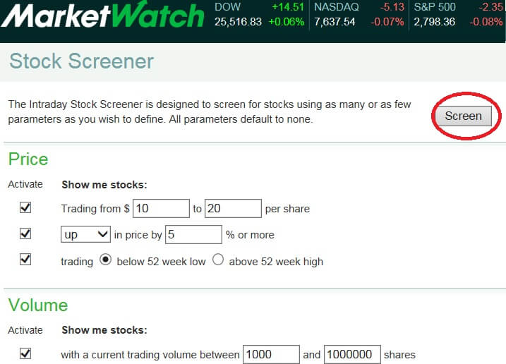 Marketwatch Stockresearch Screener