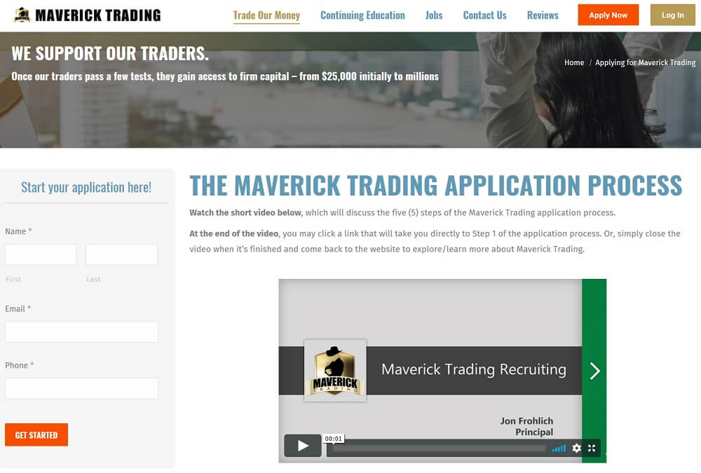 Maverick Trading Application Process
