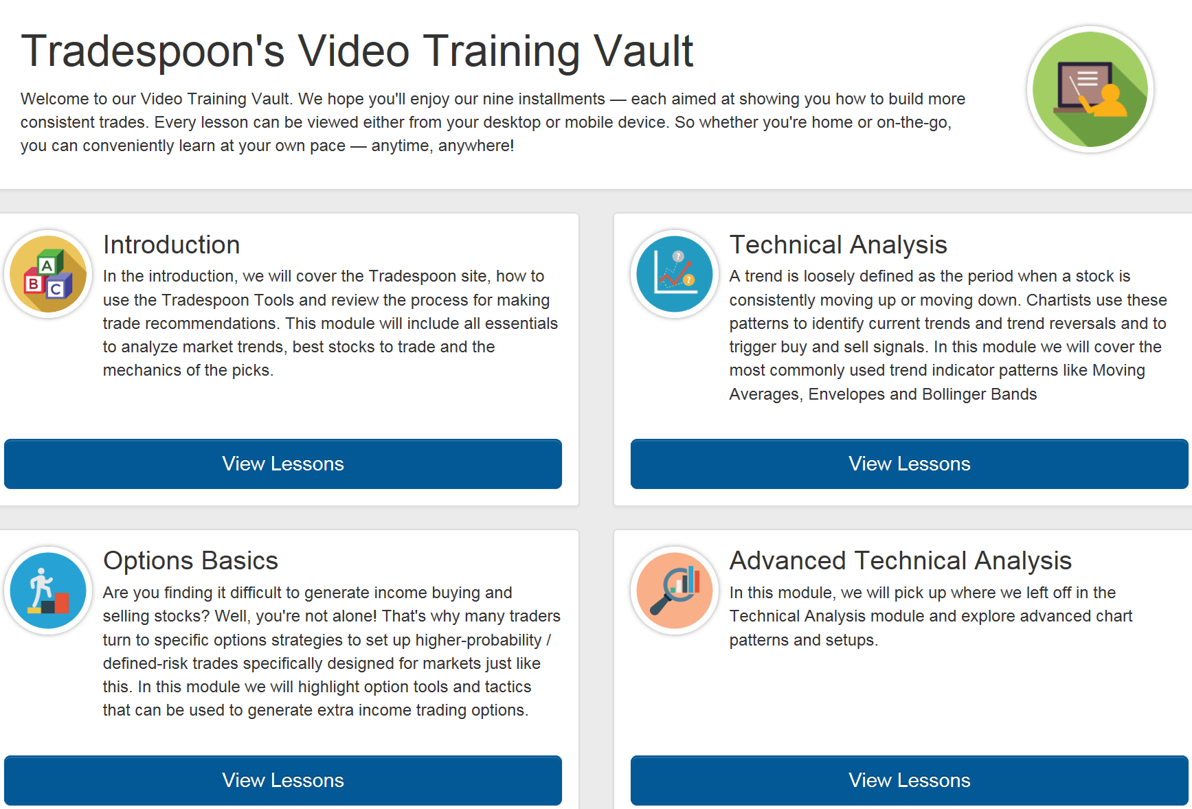 Tradespoon's Video Training Vault