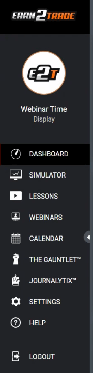 Earn2Trade Dashboard