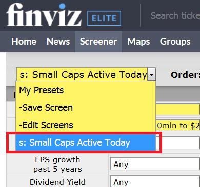 Finviz stock screener scan