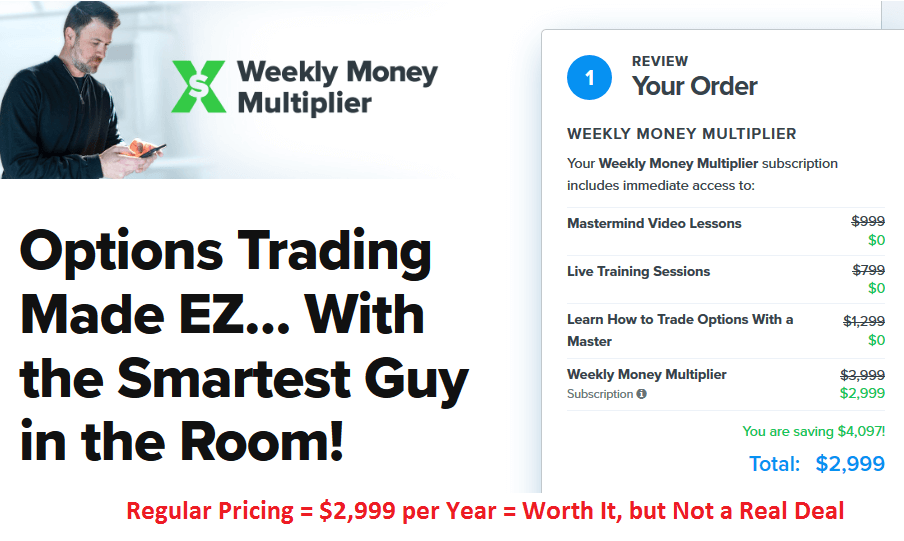 Weekly Money Multiplier Cost