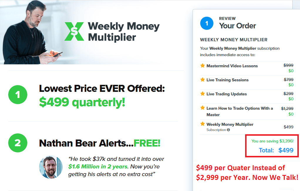 Weekly Money Multiplier Discount