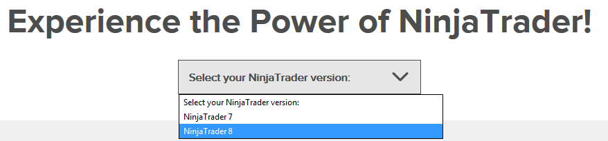 NinjaTrader Download