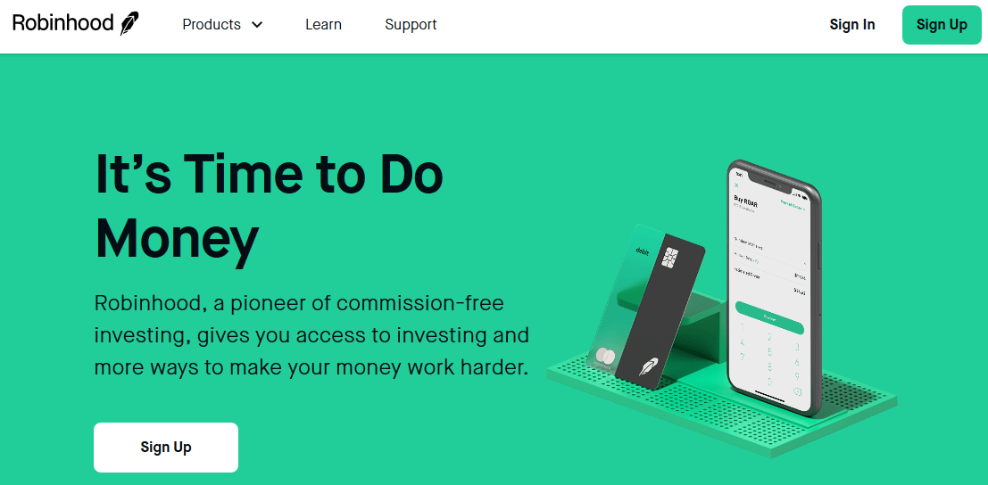Robinhood Commission-Free Investing Length And Width