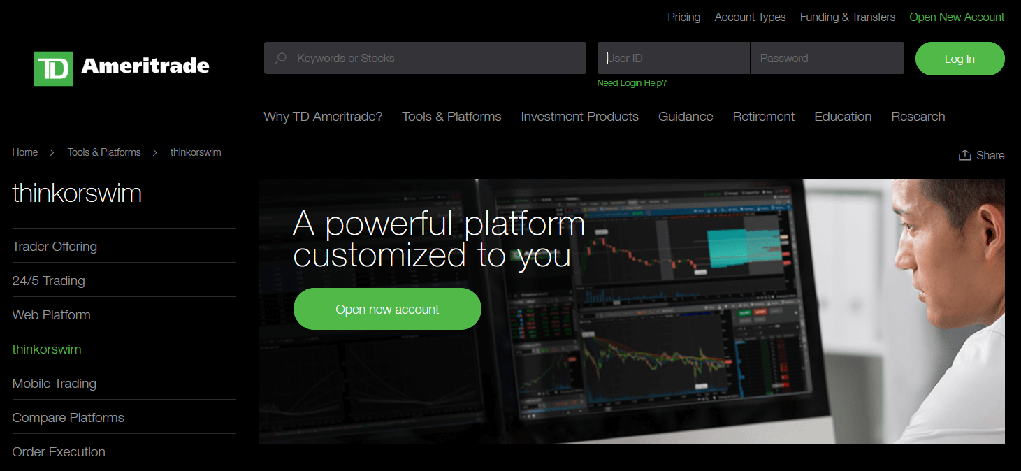 TD-Ameritrade | thinkorswim paper-trading account
