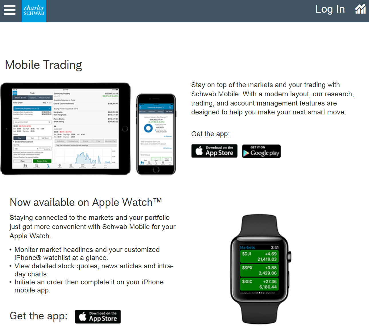 Mobile Trading with Charles Schwab
