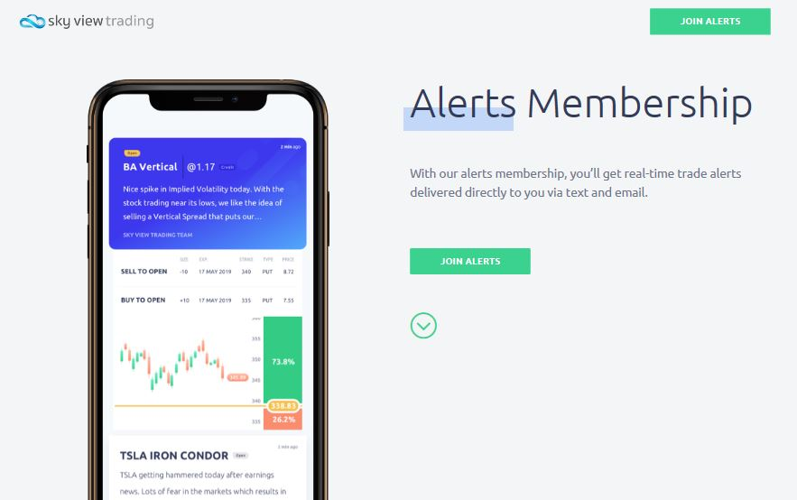 Skyview Trading Review Alerts-Membership