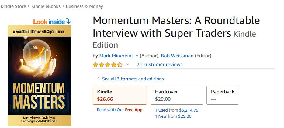 Momentum Masters Book Featuring Dan Zanger