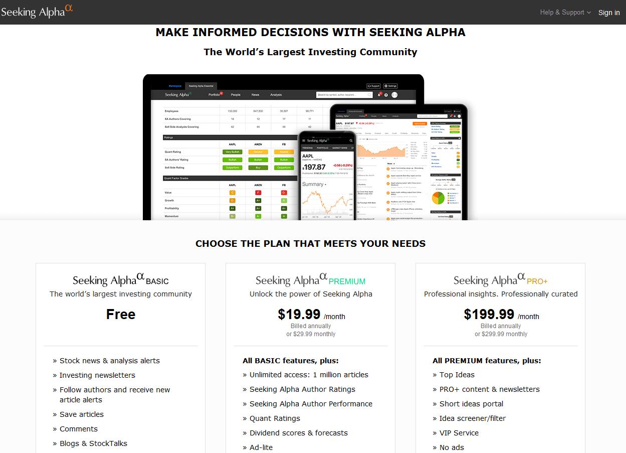 Seeking Alpha Stock Research