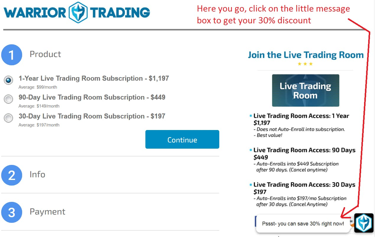 Warrior Trading Chat Room Discount