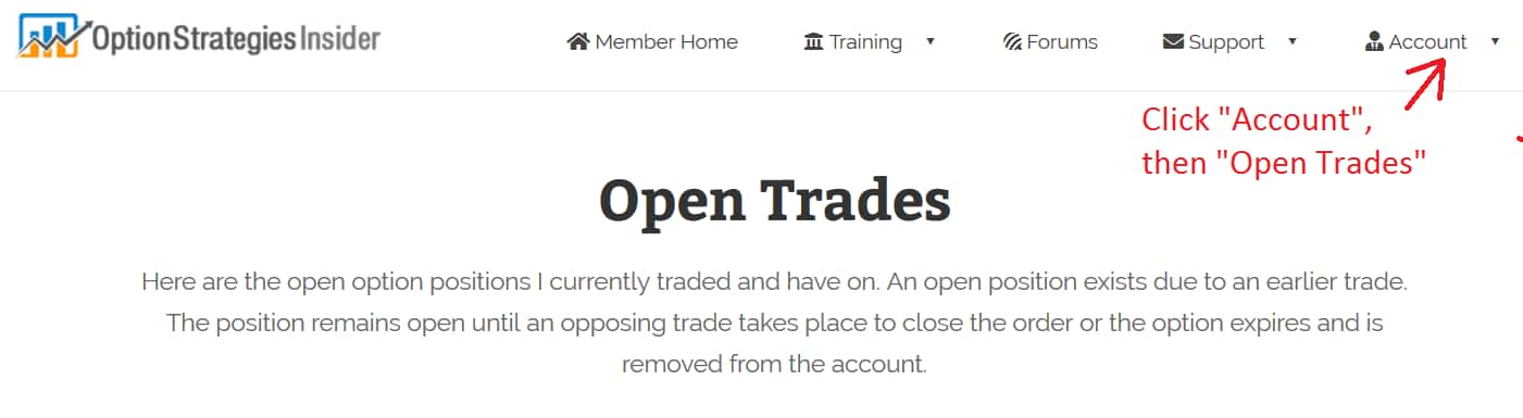 Open Trades