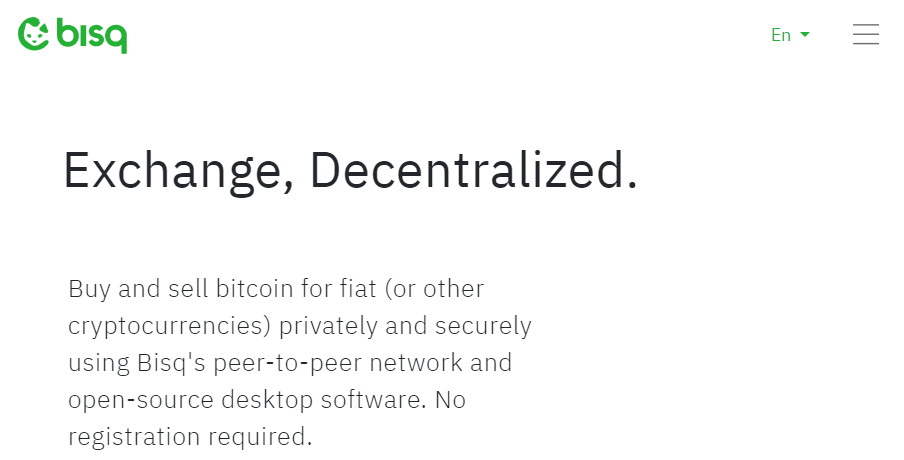 bisq Best Decentralized Crypto Exchange