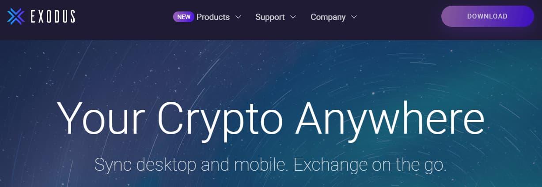 Exodus Mobile Crypto Wallet App