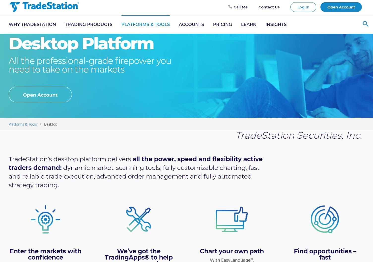 tradestation desktop trading platform