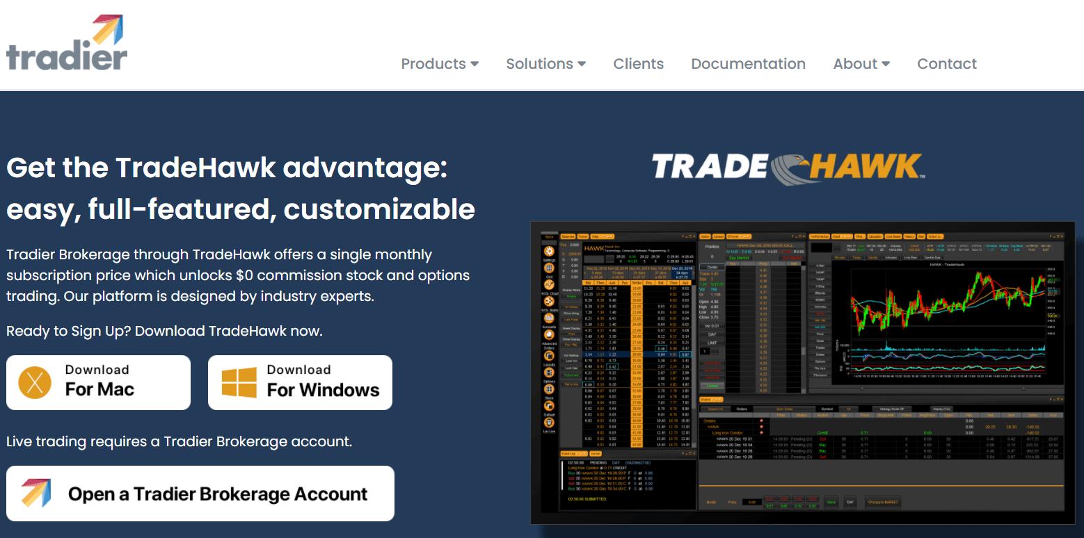 Plataforma de comercio Tradeier TradeHawk