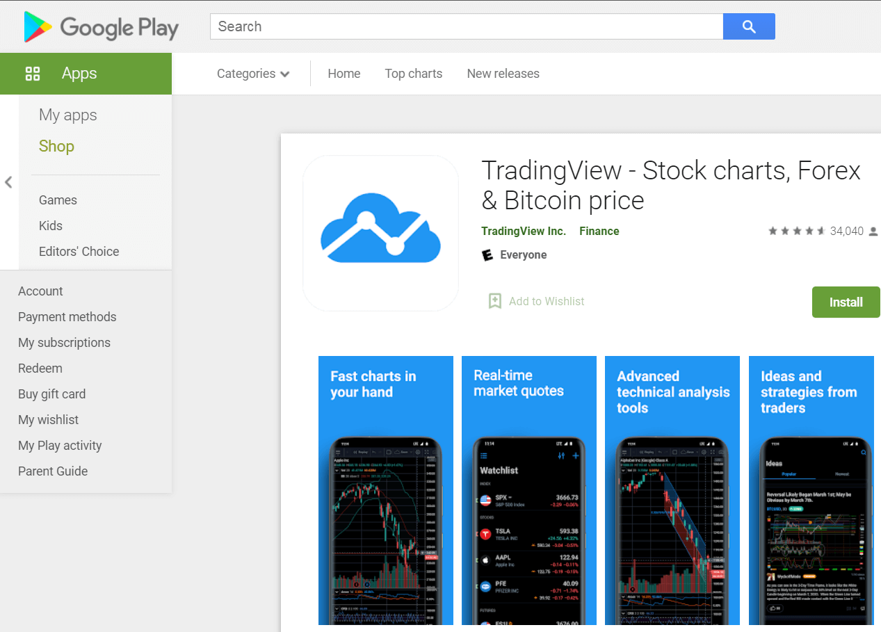 TradingView Stock Charts: Google Play Store