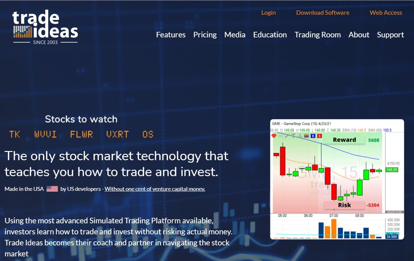 Trade Ideas Stock Charts