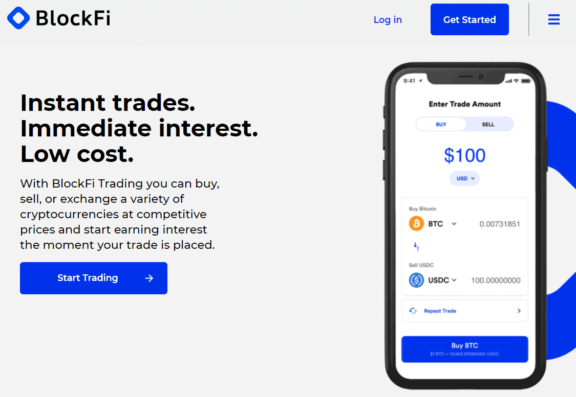 BlockFi Trading Account