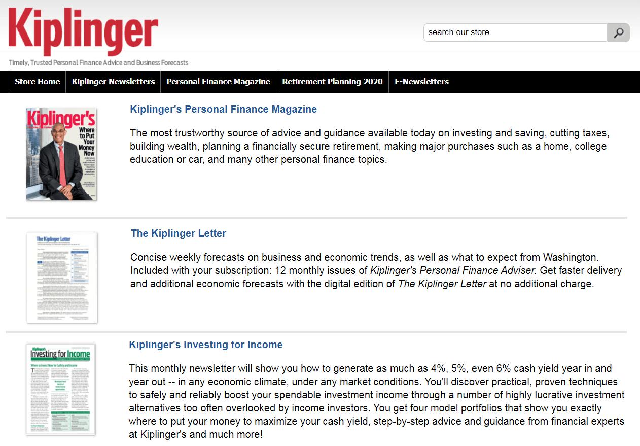 kiplinger personal finance magazine